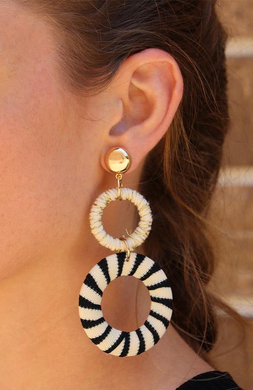 Ivory and Black, Shimmer Earrings - THE WEARHOUSE