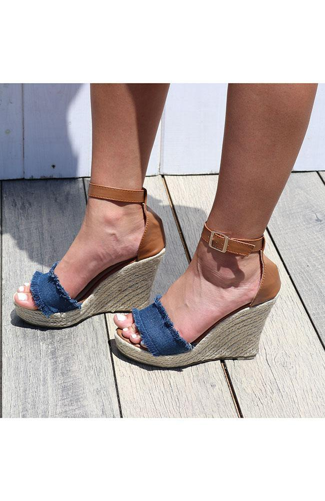 Denim Wedge - THE WEARHOUSE