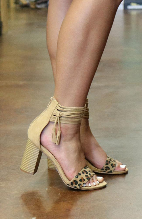 Leopard Heels with Ankle Detail