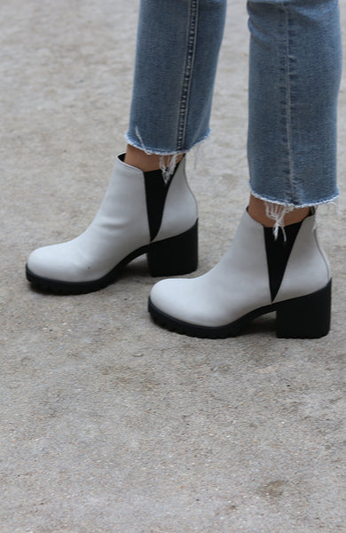 Grace Black and Grey Booties