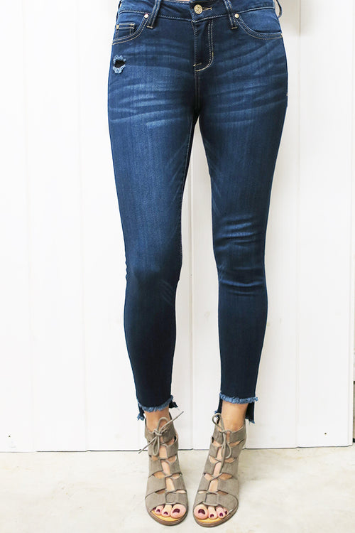 Dark Ankle Skinny Jeans - THE WEARHOUSE