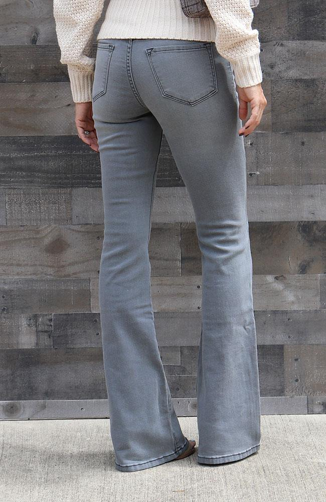 Lisa Grey Flared Bottom Jeans