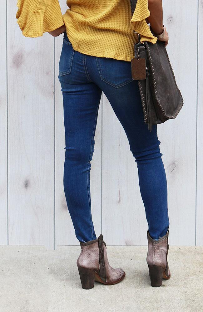 Sophia Distressed Ankle Skinny Jeans