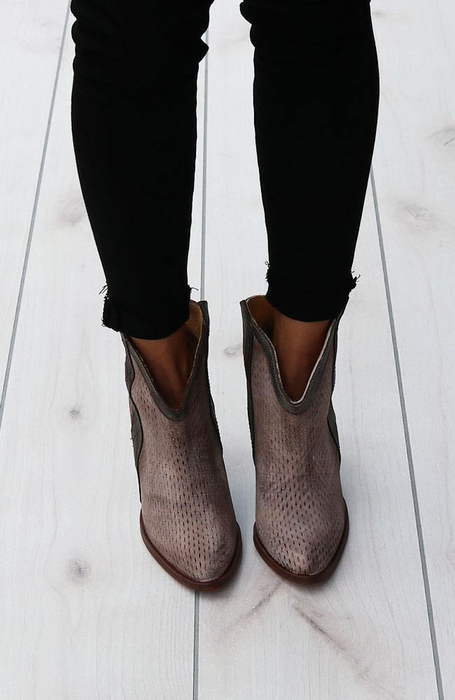 Grey and Brown Ankle Boots