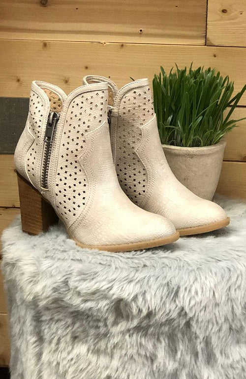 Cream Colored Ankle Boot - THE WEARHOUSE