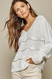 Ivory Scalloped Detail Sweater
