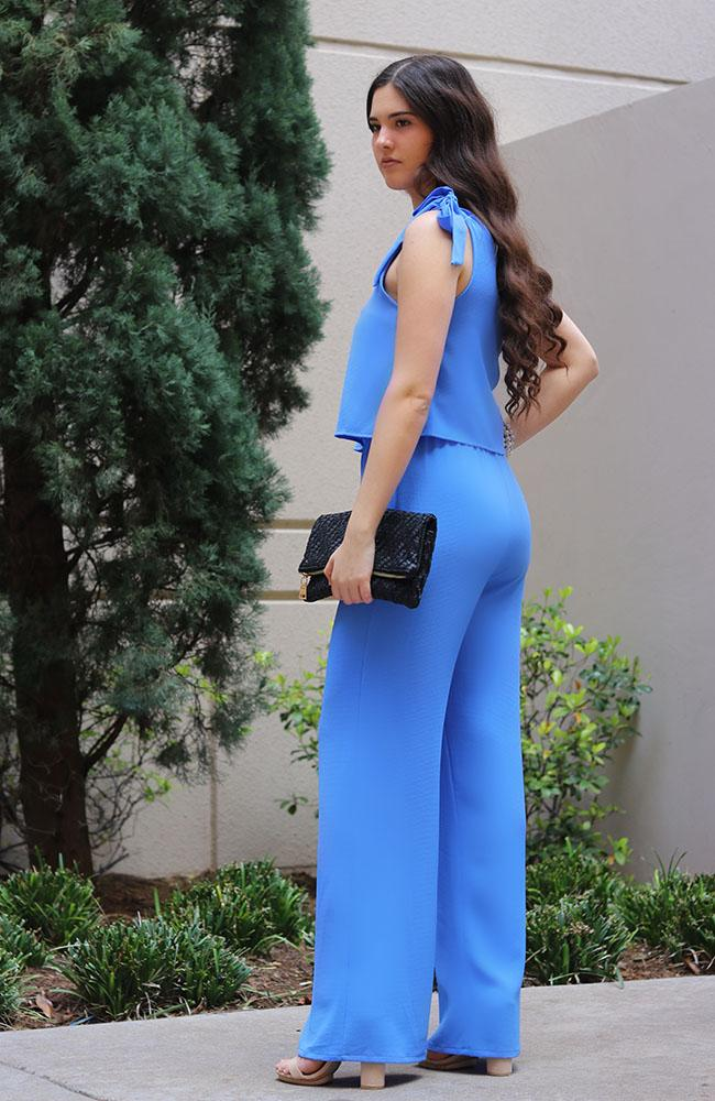 Blue One Shoulder Jumpsuit - THE WEARHOUSE