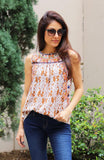 Multi Print Embroidered Top