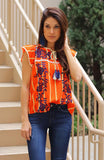Embroidered Top with Tasssel Detail - THE WEARHOUSE