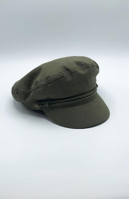 Army Green Conductor Hat - THE WEARHOUSE