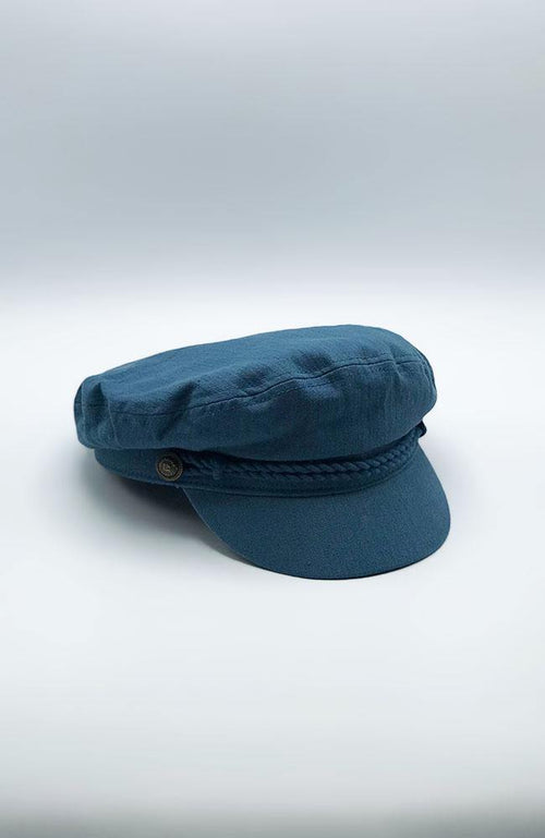 Dark Teal Conductor Hat - THE WEARHOUSE