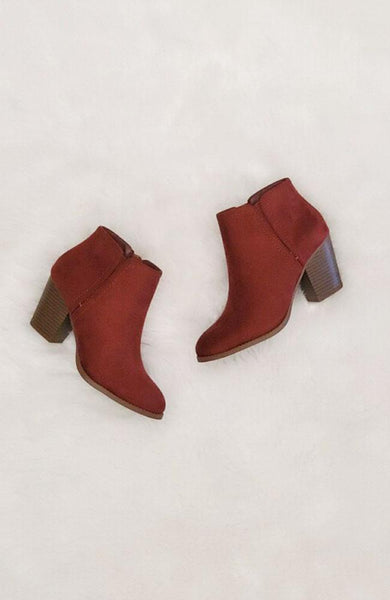 Dark Rust Bootie - THE WEARHOUSE