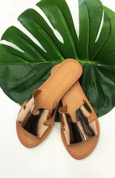 Rose Gold Cabana Sandal