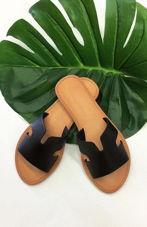 Black Cabana Sandals - THE WEARHOUSE