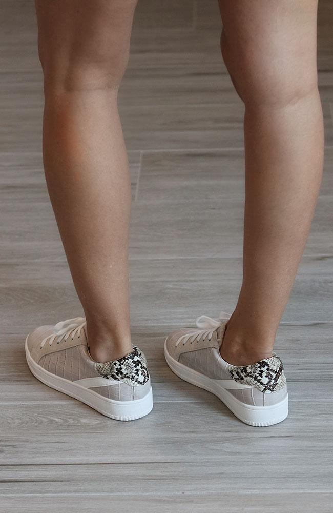 Alligator and Snake Print Street Sneakers