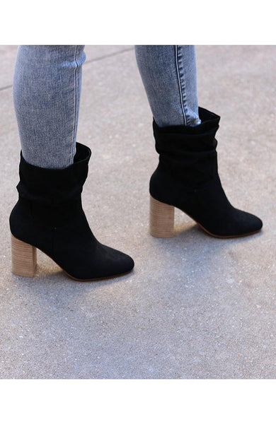 Brooke Black Mid Calf Boot