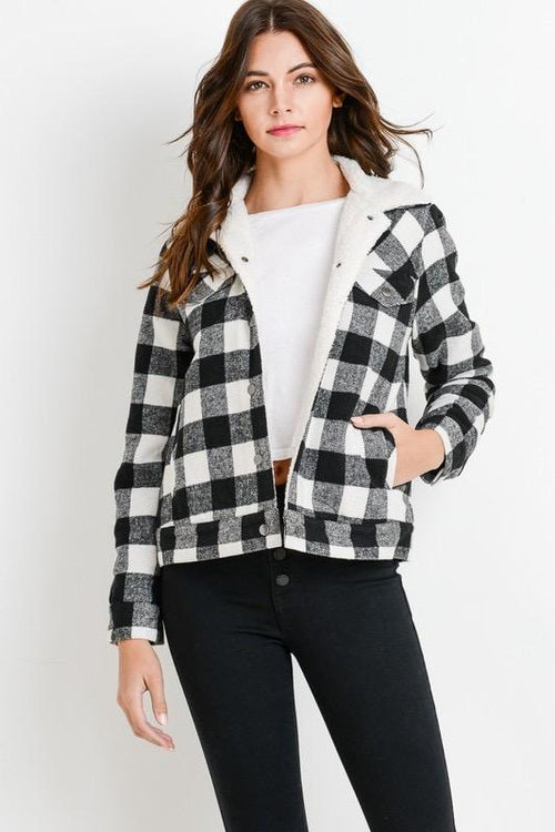Buffalo White Plaid Jacket