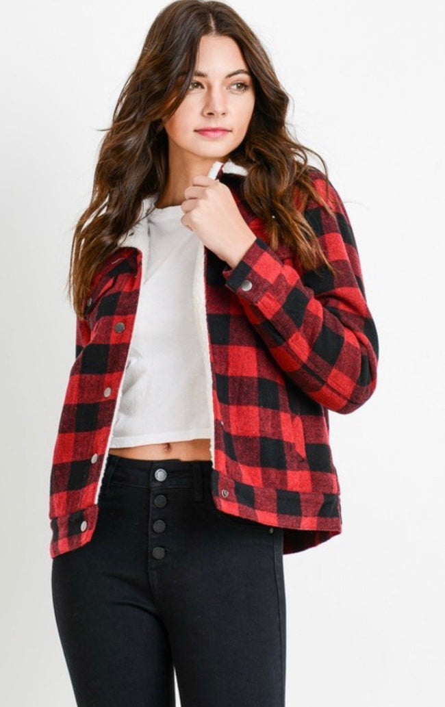 Buffalo Red Plaid Jacket