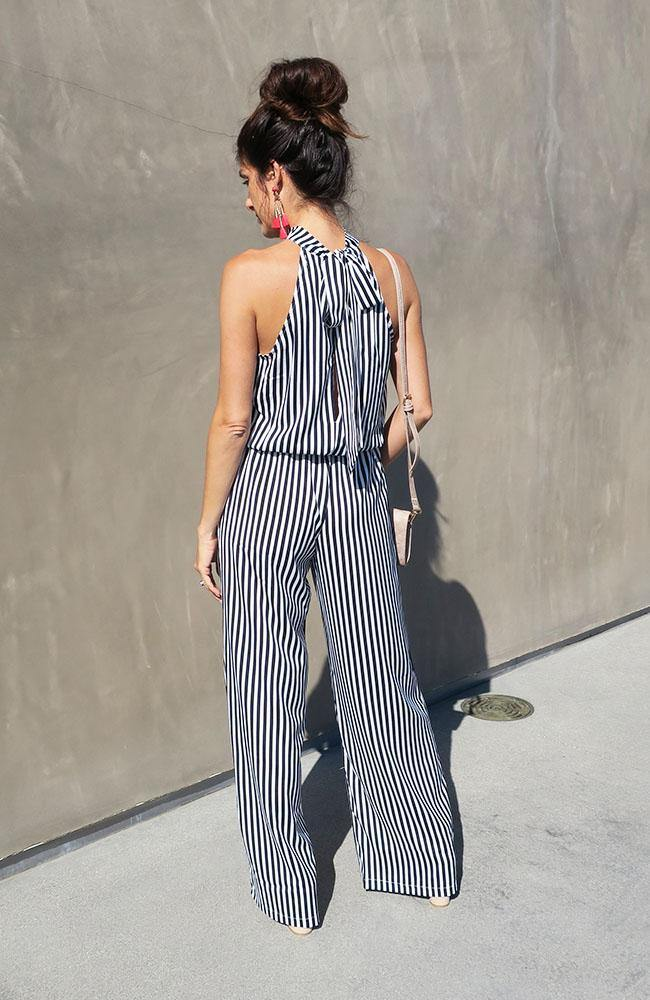 Run Away High Neck Halter Jumpsuit