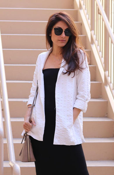 White Outerwear Blazer - THE WEARHOUSE