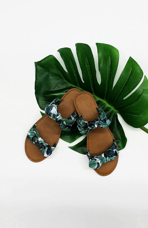 Tropical Bow Tie Sandal