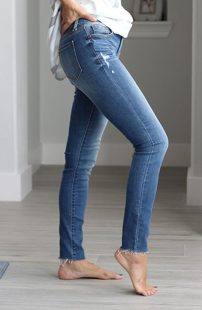 Misfit Mid Rise Skinny Ankle Jeans