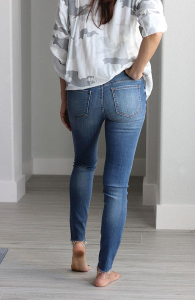 Misfit Mid Rise Skinny Ankle Jeans - THE WEARHOUSE