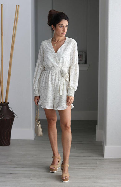 Ivory Animal Print Romper - THE WEARHOUSE