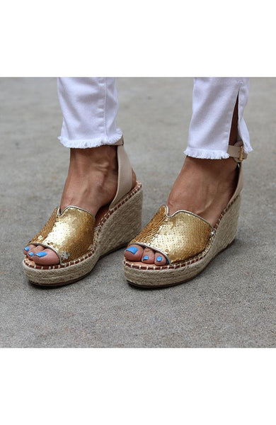 You Are Gold Babe Wedge Sandal