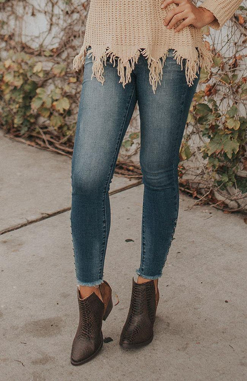 Studded Dark Wash Jeans