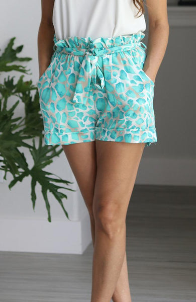 Jade Summer Print Shorts - THE WEARHOUSE
