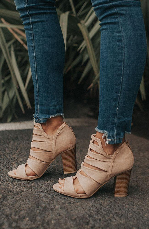 Revenge Suede Taupe Bootie