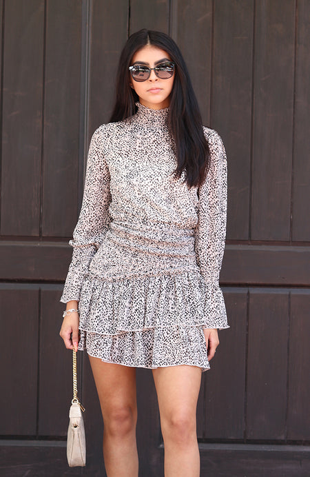 """I'm Going out with the Girls"" Black Sequin Mesh Sleeve Sweater"