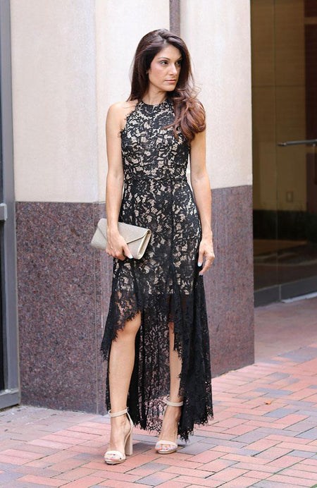 Rust Colored Evening Lace Dress