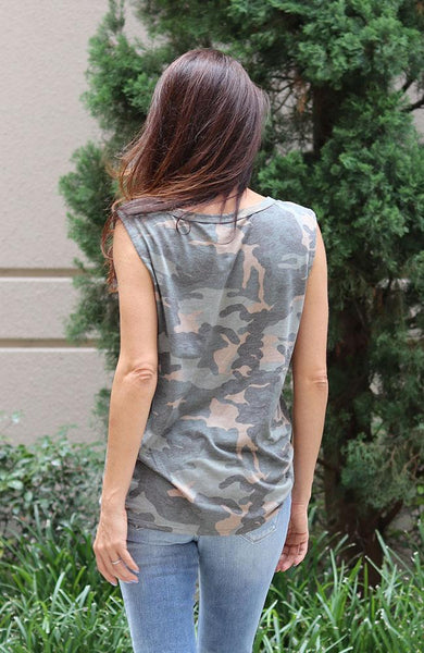 Sleeveless Camouflage Muscle Tank