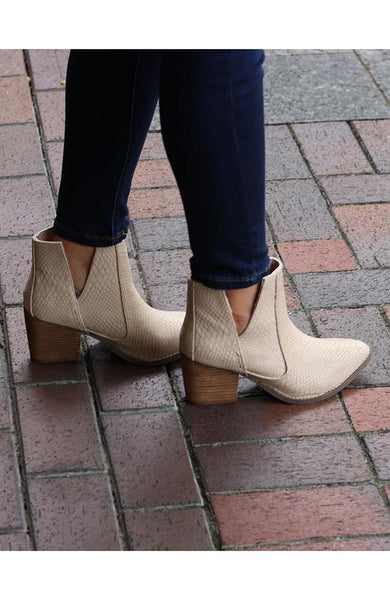 Becky Blush Ankle Booties