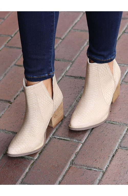 Becky Blush Ankle Booties - THE WEARHOUSE