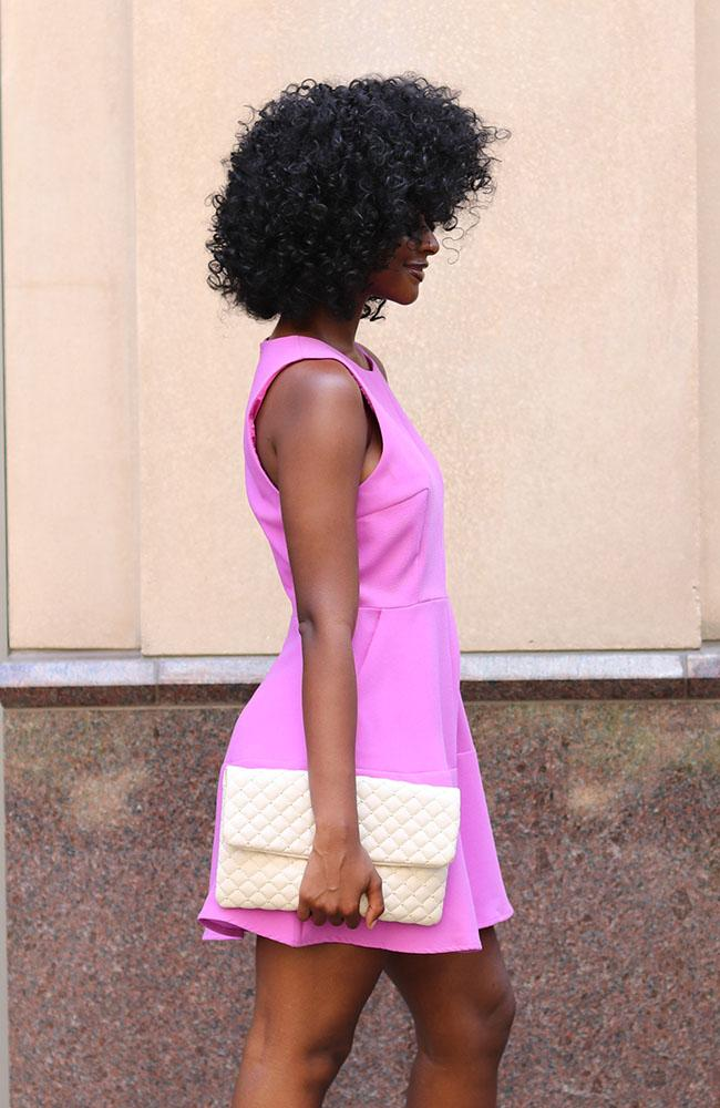 Orchid Pink Simple and Fit Flare Dress