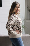 Brown Leopard Jacquard Sweater