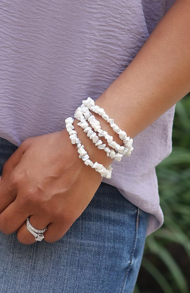 White Stone Accent Bracelet - THE WEARHOUSE
