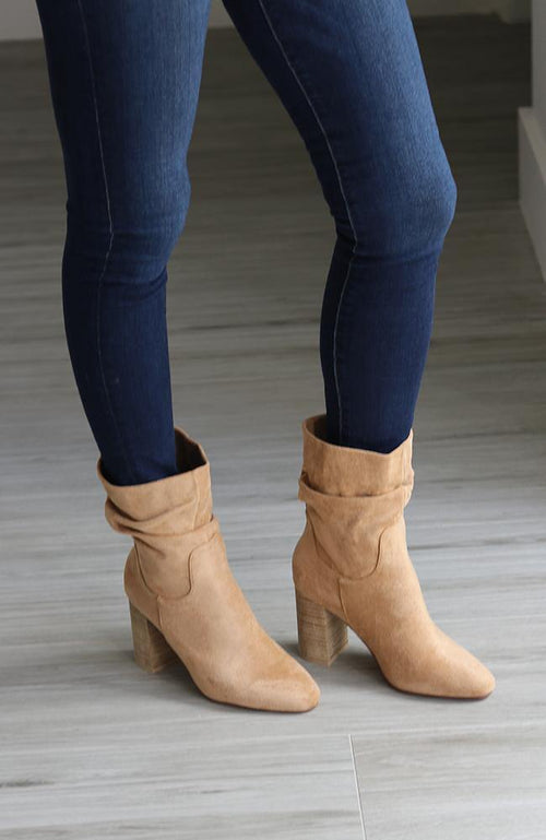 Tonya Toffee Colored Mid Calf Boots