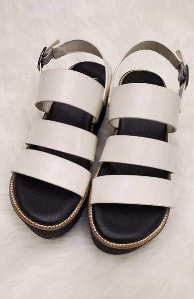 White Platform Sandal - THE WEARHOUSE