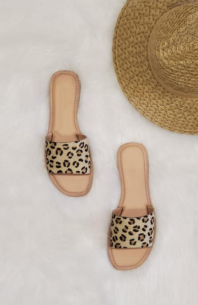 Leopard Natural Cabana Sandal - THE WEARHOUSE