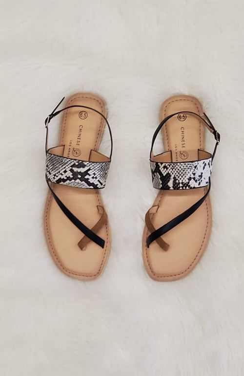 Brooklyn Snakeskin Sandal
