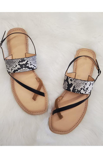 Brooklyn Snakeskin Sandal - THE WEARHOUSE