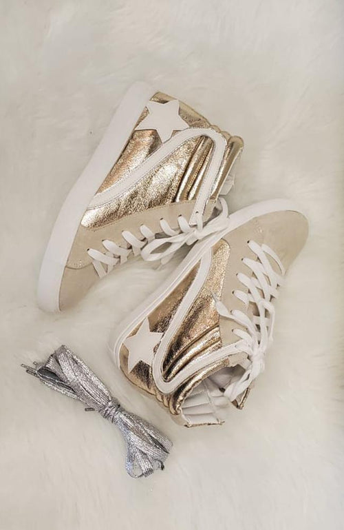 """Go Gold"" High Top Sneaker - THE WEARHOUSE"