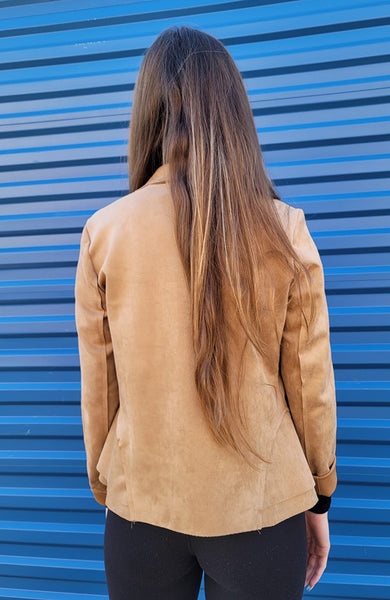 Camel Raw Edge Blazer