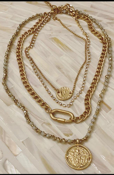 Athena Multi Layered Necklace - THE WEARHOUSE