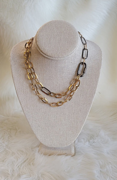 Parker Gold And Black Statement Necklace