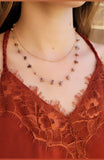 Mauve Modern Necklace